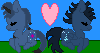 BluerosexIcewing couple icon by BluethornWolf
