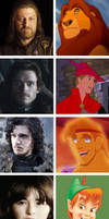Game of thrones meets Disney: part two by SingerofIceandFire