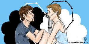 Hazel and Augustus by lizthefangirl