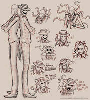 Splendorman Sketches by GothiCraft