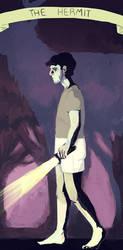 Hannibal Tarot - The Hermit by CassieForgen
