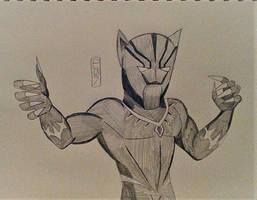 Black Panther Pencil Sketch by MaleVolentSamSon
