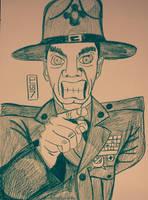 R Lee Ermey Sketch  by MaleVolentSamSon
