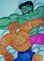 The Thing VS The Hulk by MaleVolentSamSon