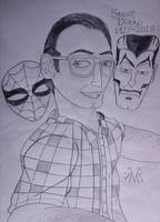 Steve Ditko Tribute Sketch by MaleVolentSamSon