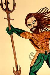 Aquaman 2018 Drawing by MaleVolentSamSon