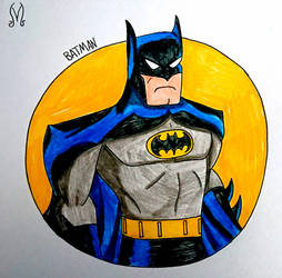Batman 90's Bust Drawing by MaleVolentSamSon