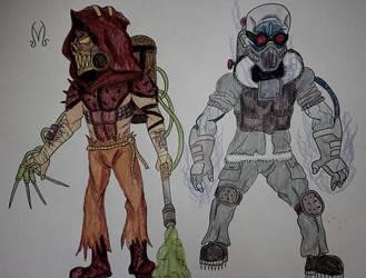 Mad Max Style Scarecrow/Mr. Freeze by MaleVolentSamSon