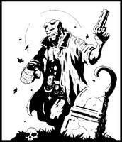 Hellboy Sketch by otisinhell