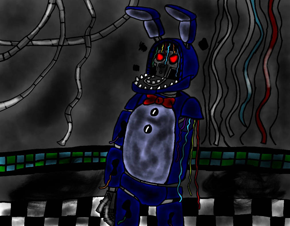 FNAF Fan-Art: Withered Bonnie is Really Furious    by EdEddnEddy3456