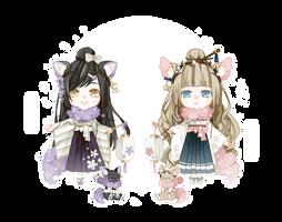 [Close] Lelani set3 [Fuji and Ume] Adoptable by Niola0413