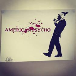 American Psycho Stencil by Hillbro