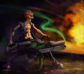 Cyberpsycho Blaster by StephenH-TRIPP
