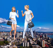 Taylor Swift and Karlie Kloss giantess by eheh78