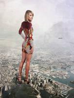 Mega giantess Taylor Swift by eheh78