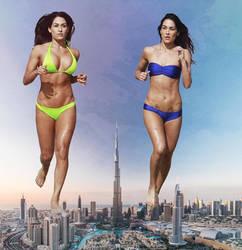 More double giantess in Dubai by eheh78