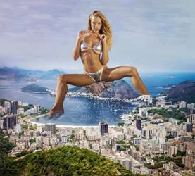 Giantess Hannah Ferguson in Rio by eheh78
