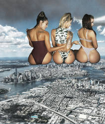 3 giant butts in NY by eheh78