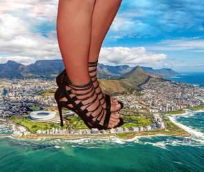 Giantess Margot Robbie feet by eheh78