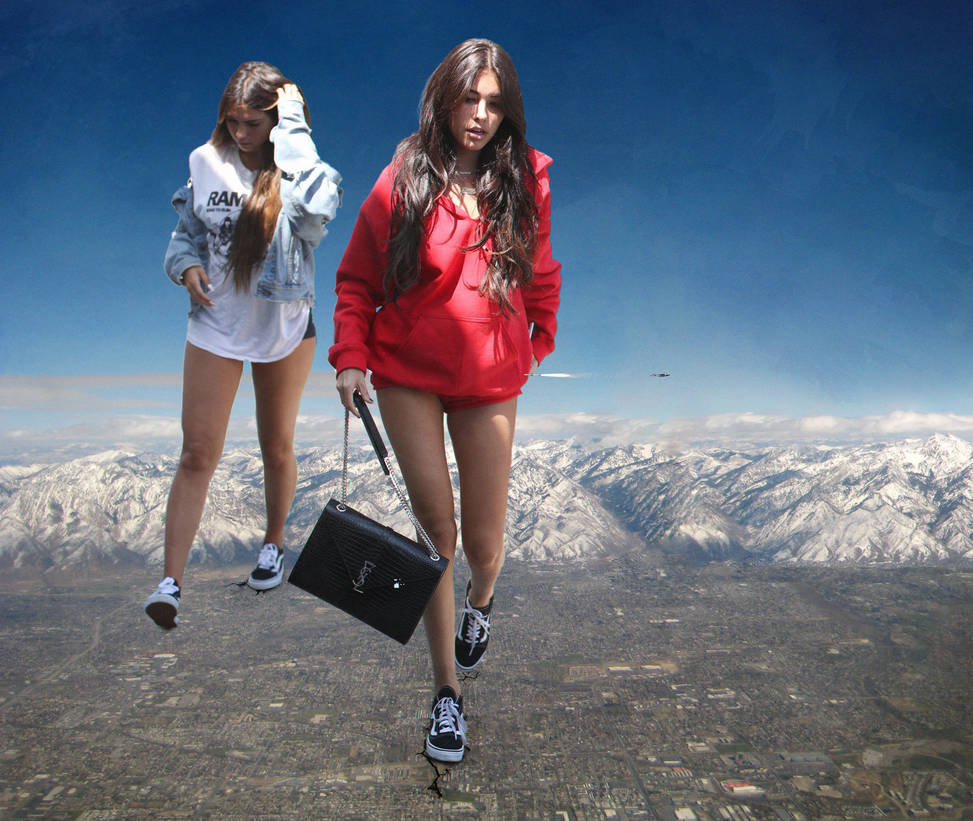Giantess Madison Beer and friend by eheh78