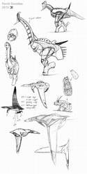 Fentil vertebrate doodles by Demmmmy