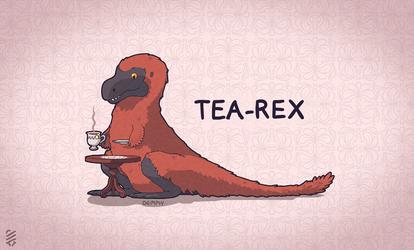 Fluffy Tea Rex by Demmmmy