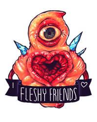 Eye Heart Fleshy Friends by Demmmmy