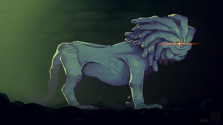 Finger Lion by Demmmmy