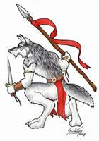 Wolf Warrior - Inks by ScribbleFox