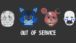 Five Nights At Candy's  old animatronics by hookls