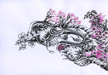 Tree-spirit-triptych-head by Joinerra