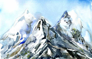 Mountains-postcard by Joinerra