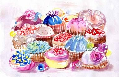Sweet-treats-postcard by Joinerra
