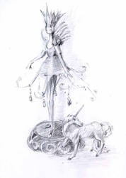 Table-ornament-and-figurine-of-unicorn-sketch by Joinerra