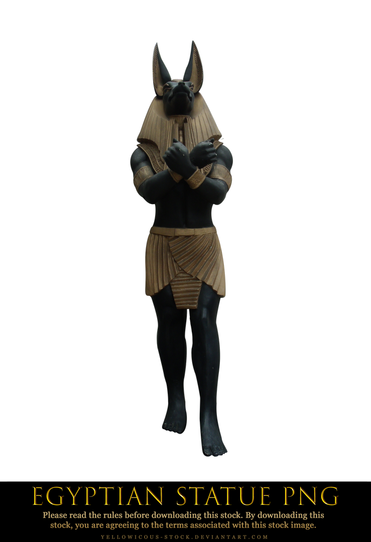 egyptian statue png by yellowicous-stock