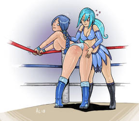 Commission: Post-Match Punishment by Alexi-C by EVBrock