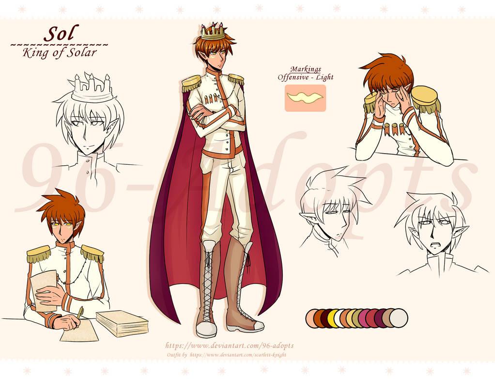 Sol, King of Solar - Ref Sheet (Custom) by 96-Adopts