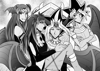 Incubus King and Succubus Queen-Manga (comm.) by 96-Adopts