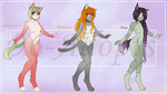Anthro Adopts 1-3 (OPEN) by 96-Adopts