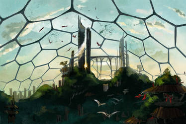 The domed city Reaga by CantoChi