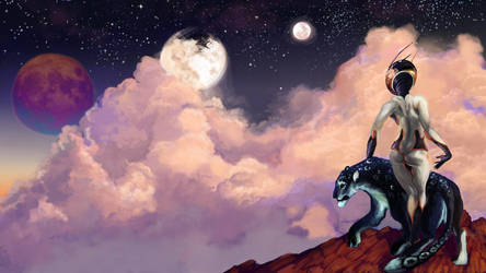 Space panther widescreen by CantoChi