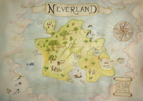 Neverland map by b3ttsy