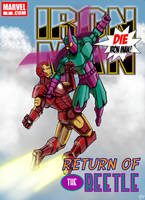 Iron Man vs. the Beetle cover by sirandal