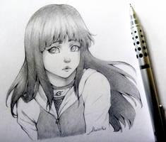 Sketching Hinata by Alexinker
