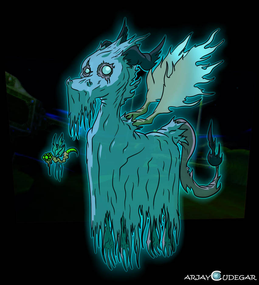 The Ghostly Dragon by Cudegar