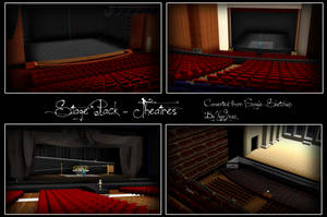 MMD STAGE PACK - 4 Theatre Stages [DL] by NyaLinaa