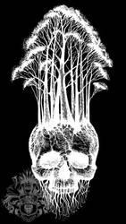 Skull + trees design 1 by farennikov