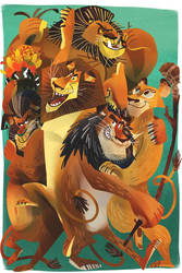 The Lions of Madagascar by galgard