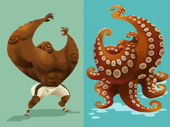 Bob Sapp was an Octopus by galgard