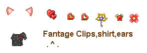 Fantage Clips,shirt,ears by chocolala23